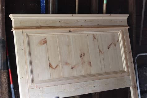homemade wooden headboards jenny steffens hobick we built a bed diy wooden headboard