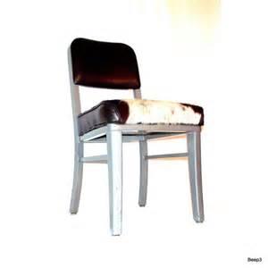 Brown Cowhide Desk Chair The Seat Steelcase Chair Vintage Industrial Cowhide