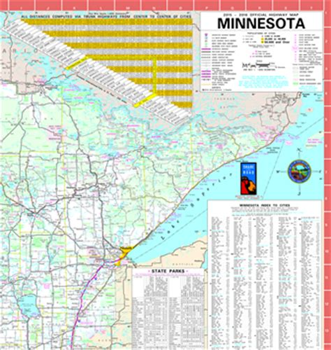 map of mn highways official minnesota state highway map