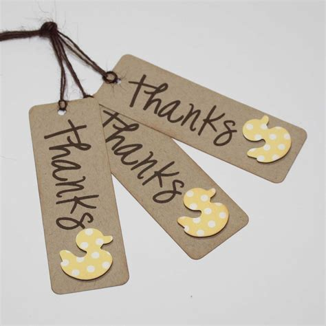 Thank You Baby Shower Favor Tags by Duck Favor Tags Baby Shower Thank You Tags Favor Tags