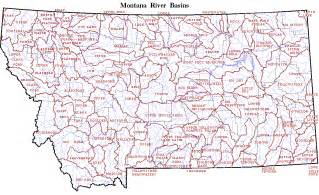 Montana Rivers Map by Map Of Montana Rivers Travel Map Vacations