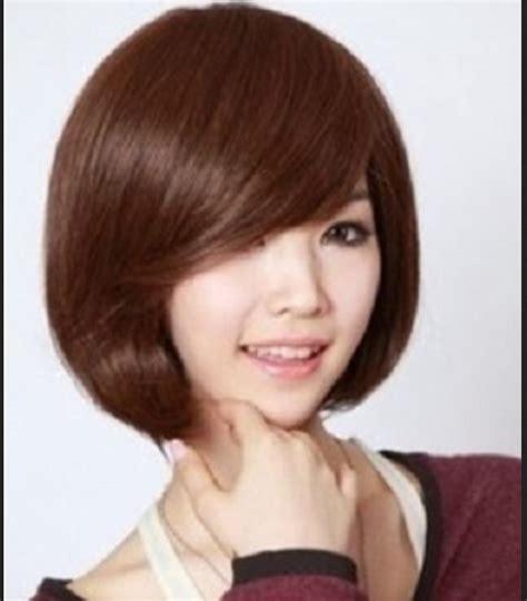 model rambut pendek  wajah bulat  rambut tipis