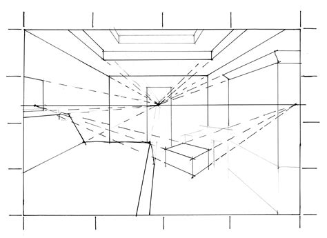 Drawing 2 Point Perspective From Plan by Marker Color Rendering Drawing Sofa 2 B W Clipgoo