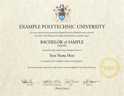 polytechnic diploma certificate sle gallery