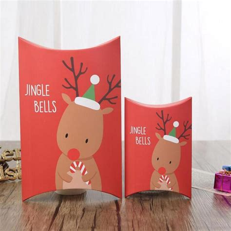 merry christmas pillow boxes diy christmas gift boxcandy box wedding favors  gifts boxes