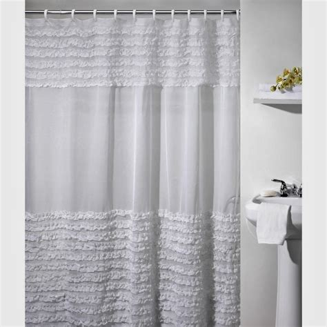 gray ruffle shower curtain whimsy girl pretty things ruffle shower curtains