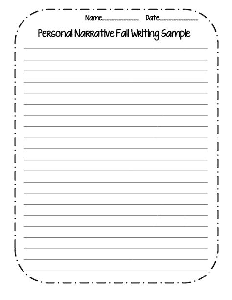 Writing Templates For 3rd Grade by 15 Best Images Of Personal Narrative Writing Worksheets
