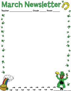 march newsletter template free 22 images of st s day newsletter template word