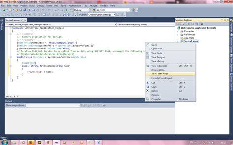 tutorial web application visual studio 2010 criando um web service no visual studio 2010 eu fa 231 o