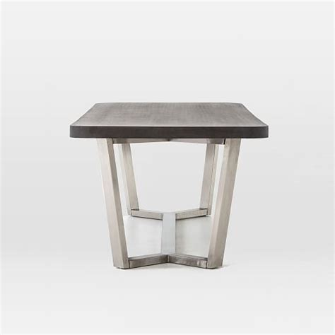Stainless Steel Outdoor Dining Table Ashton Indoor Outdoor Dining Table Stainless Steel West Elm