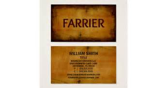 farrier business cards farrier antique brushed business card zazzle