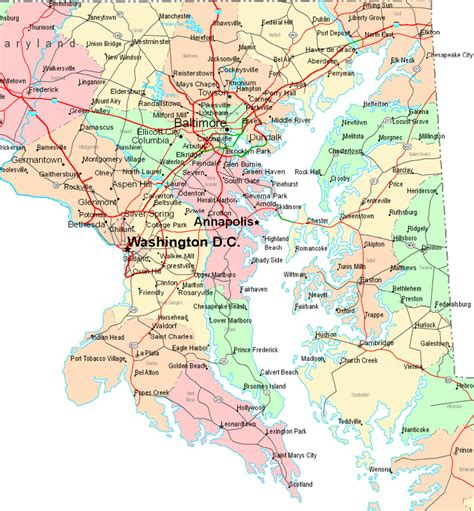 Search Md Us Maryland Maryland Map Dc Maps Of Usa Road Map Map Of The United States
