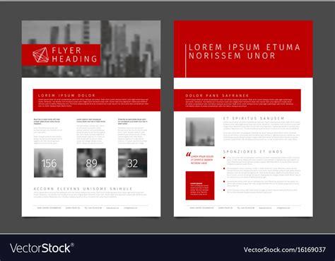 Modern Brochure Template Flyer Design Template Vector Image Modern Flyer Template