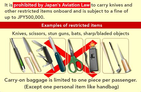Type Of Kitchen Knives restricted items jal domestic flights