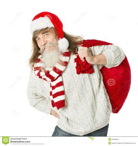imagenes de santa claus viejo viejo hombre de la navidad con la barba en el sombrero