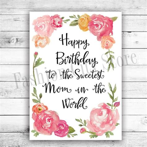 mombirthday card template happy birthday card for watercolor by fashioncitystore