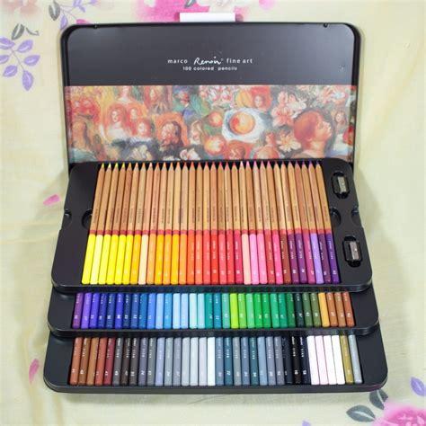 Pensil Warna Set Butterfly aliexpress buy new arrival marco 100 colored pencils sets lapis de cor marco 100 cores