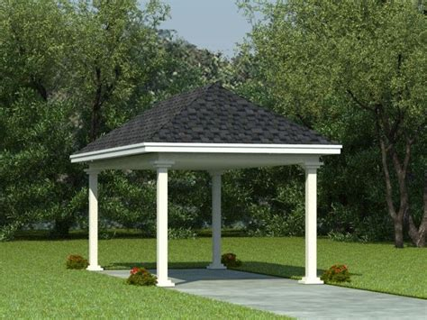 Single Car Carport Plans carport plans 1 car carport plan with support posts 006g 0002 at thegarageplanshop
