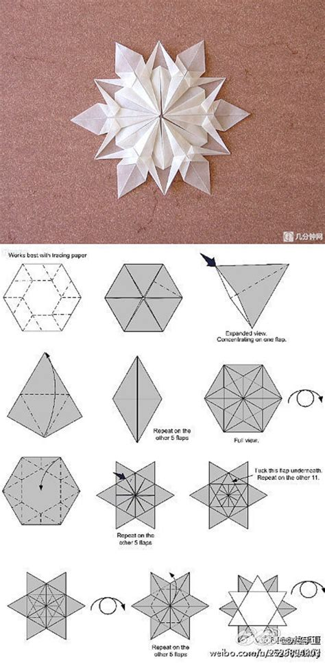 Paper Folding And Cutting Crafts - diy handmade diy handmade origami snowflakes origami