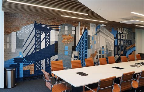 office mural  silicon valley bank  nyc