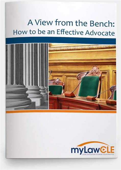 a view from the bench how to be an effective advocate