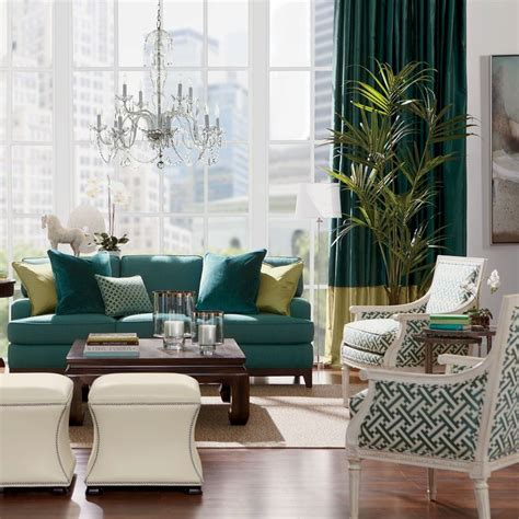 green living room chair tang horse ethan allen us home decor pinterest
