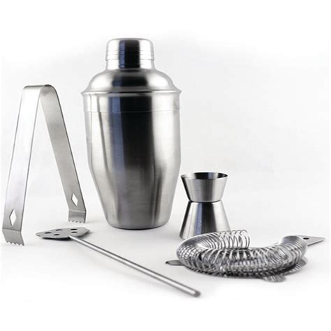 stainless steel barware berghoff studio 5 piece stainless steel barware set 2211477 the home depot