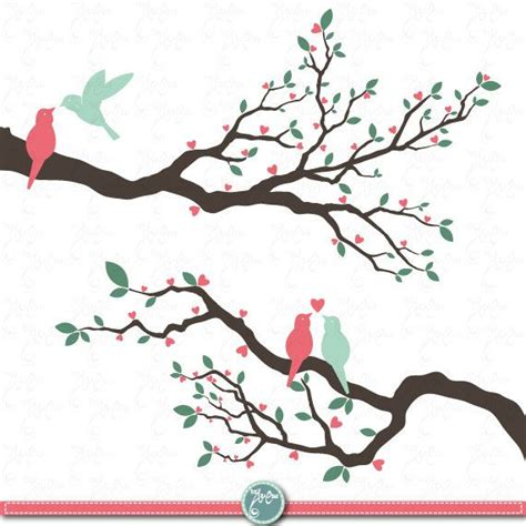 Birds Wedding Clipart by Wedding Clip Quot Wedding Tree Quot Clip Pack Bird