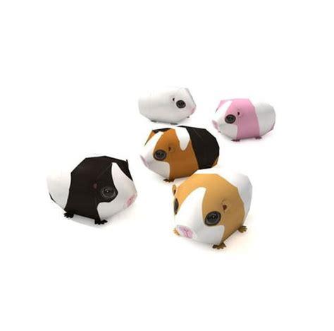 printable animal toys printable guinea pig 3d paper art 3d paper art 3d paper
