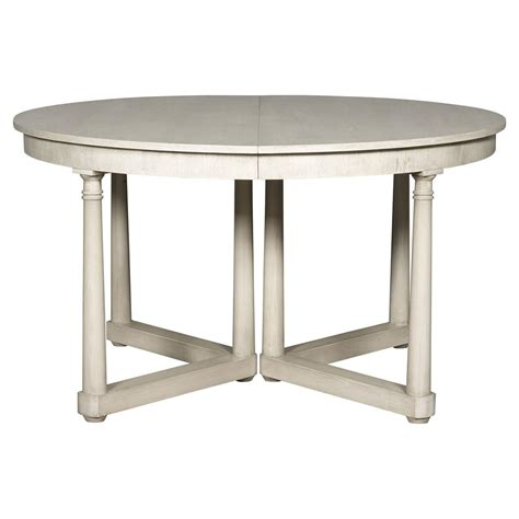 declan rustic white extendable dining table kathy