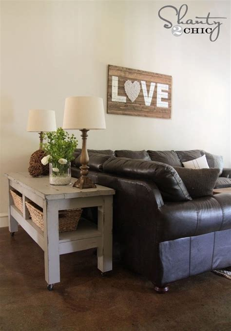 Chic Living Room Furniture Shabby Chic Living Room With Brown Leather Sofa Living Room
