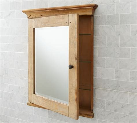 wooden bathroom cabinet with mirror mason reclaimed wood recessed medicine cabinet wax pine