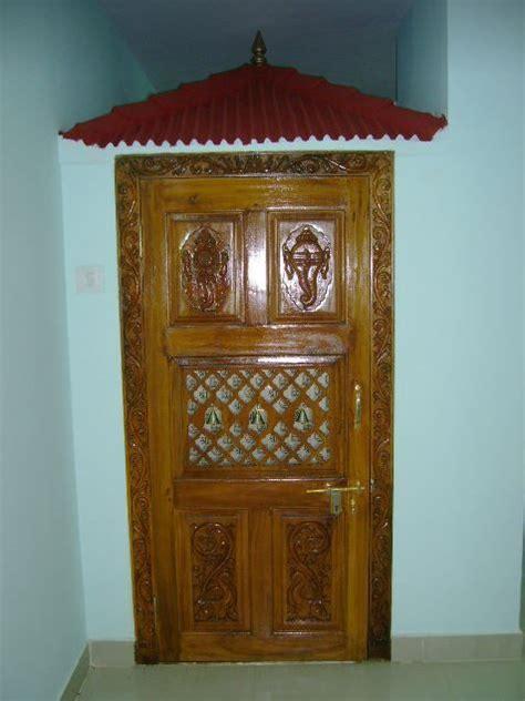 Pooja Room Door Designs in Wood   pooja room decor ideas