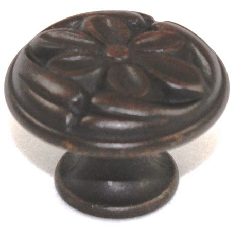 Fancy Cabinet Knobs by 1 1 8 Inch Solid Brass Decorative Cabinet Knob Rubbed