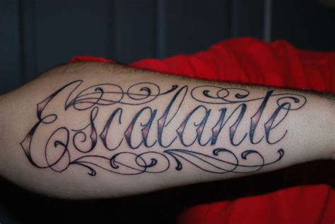 tattoo of my family name my last name tattoo
