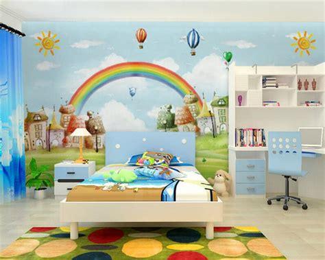 rainbow wallpaper for room beibehang custom wallpaper mediterranean style tv backdrop room rainbow background