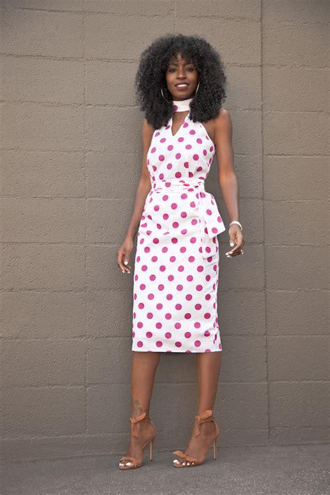 Polka Dot Pantry by Style Pantry Polka Dot Halter Midi Dress