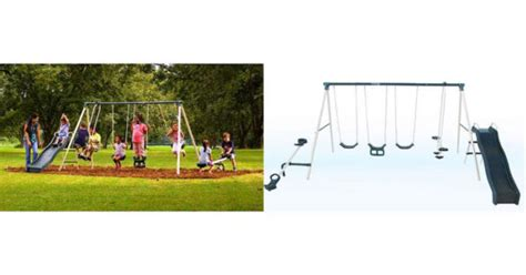 flexible flyer triple fun swing set great deals on swing sets fabulessly frugal