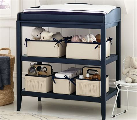 Ivory Changing Table Ivory Linen Canvas Nursery Storage Pottery Barn