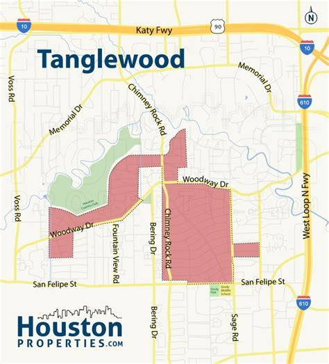 houston map neighborhoods tanglewood houston neighborhood map great maps of