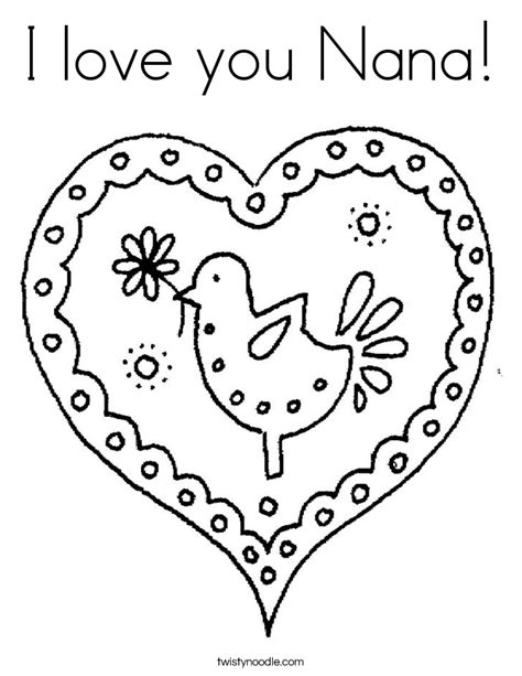 i love you nana coloring pages i love you nana coloring page twisty noodle