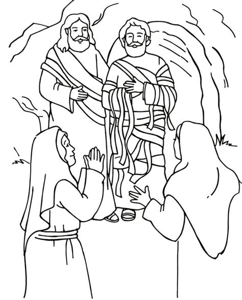 miracles of jesus colouring pages