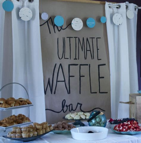 couples wedding shower decorations couples shower ideas waffle bar pear tree