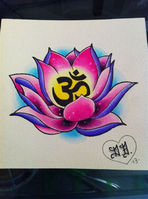 tattoo flash lotus lotus and om www instagram com blankenstein83 www