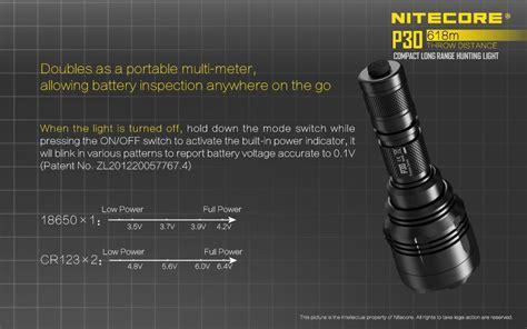 Senter Turbo Light nitecore p30 senter led cree xp l hi v3 1000 lumens