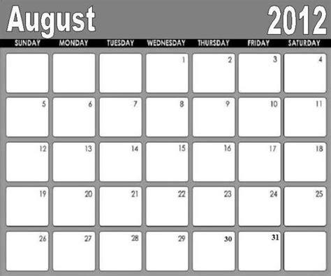august 2012 calendar template free printable august calendar 2012