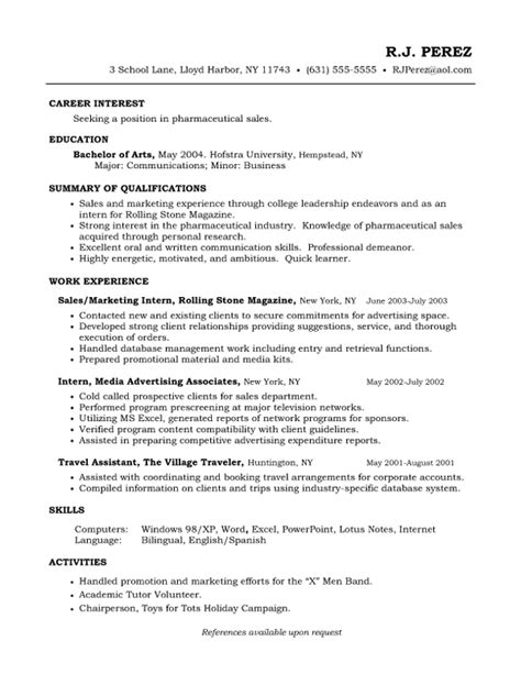 sle of a chronological resume sales entry level resume sles vault