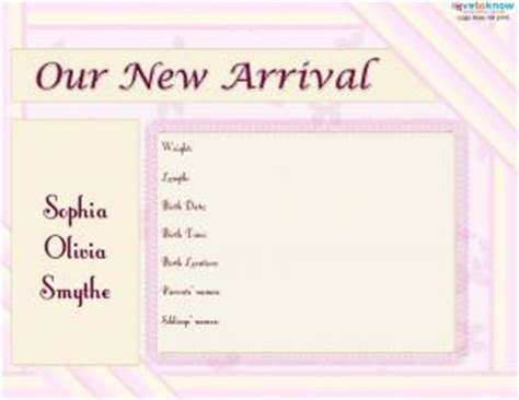 baby announcements templates search results for printable templates pregnancy