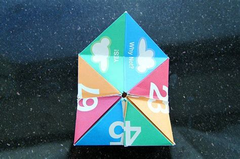 Fortune Teller Paper Fold - 17 best ideas about paper fortune teller on st