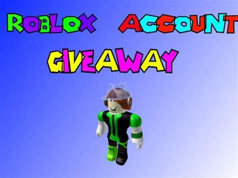 Roblox Giveaway Accounts - free roblox account giveaway zoella doovi